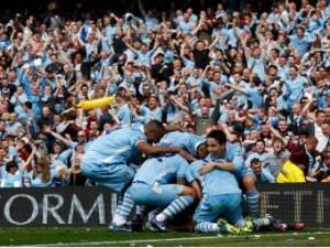 """""""Манчестер Сити"""" в рамках заключительного тура Английского первенства по футболу со счетом 3:2 обыграли команду """"Куинз Парк Рейнджерс"""""""