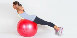 Быстрая тренировка на фитнес мяче для мышц рук и пресса (Abs)